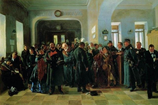 Константин Маковский. Крах банка. 1881