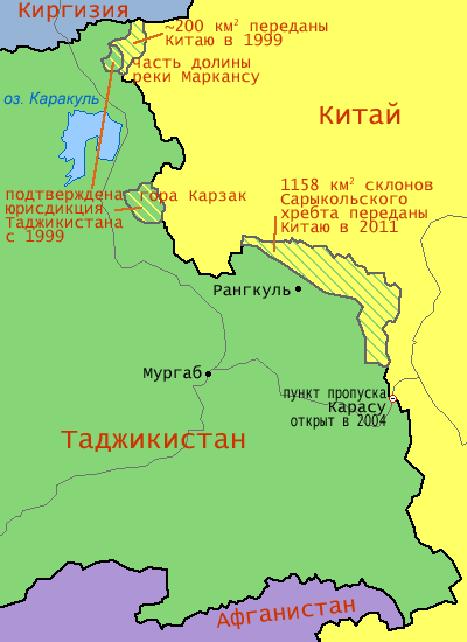 Таджикистан и узбекистан спорные территории