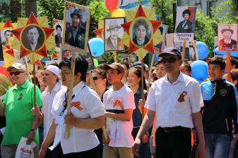 «Бессмертный полк» прошагал по Центральной Азии